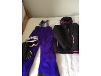 Ski wear bundle only worn once excellent condition size 8