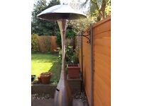 Patio heater with gas cylinder