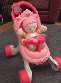 Fisher Price Baby Walker and Doll