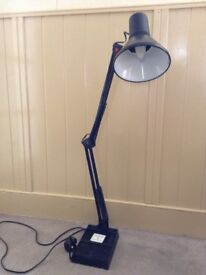 Floor Lamp Adjustable Height etc in black. Very good condition in perfect working order.