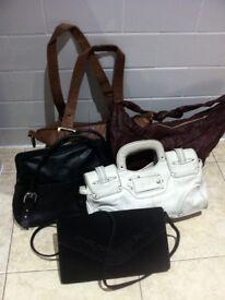 Job Lot 5 Real Leather Women's Handbags GAP BillaBong Vintage / Can Deliver