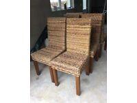 Wicker chairs £20 each