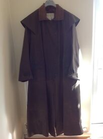 Waxed cotton outback coat