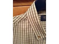 Men's Clothing Grey Check Soft Touch Short Sleeve Shirt Size Medium NEW