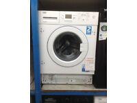 Beko A+ intergrated 7kg 1600spin washing machine. £269. New/graded 12 month Gtee