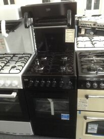 Beko high level grill single gas cooker. Black 50cm. £279. New/graded 12 month gtee