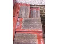 Roof tiles Marley - approx 140 - used but intact