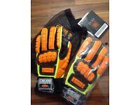 Crude work gloves mechanics and builders xxl bargain new.L@@K....
