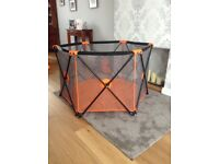 MCC 4 Babies pop up orange playpen with carry bag