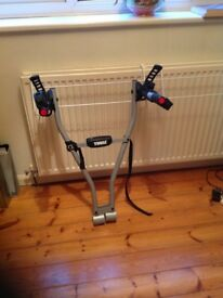 Thule 2 cycle rack to fit on tow bar of car .Excellent condition