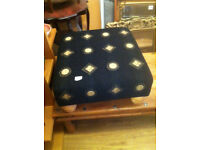 Large Foot stool covered in Versace Material Very good condition Size L 24 in D 24 in H 11in