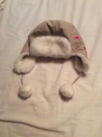 Monsoon girls trapper/winter hat age 6-10 years