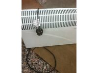 as new electric panel heater in white