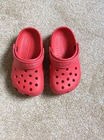 Red Crocs Size 6-7