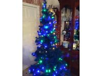 blue 6ft tree with lights