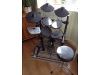 Bentley TD-90 Electronic Drum Kit • 5 Pieces with Stool • Excellent Starter Drum Kit •