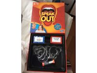Speak Out game..fun game, great for parties..new..not used..sell £12