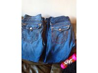 True religion jeans new style only selling as they are to small put weight on not been worn much