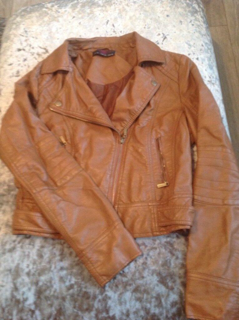 Ladies newlook tan jacket size 12