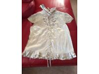 Brand new River Island gold top size 12