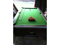 Pub Pool Table, with slate bed