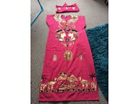 Fancy dress Egyptian ladies dress and headdress and mans 2piece outfit