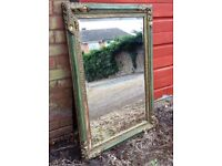 Large Decorative Mirror with Bevelled Edges