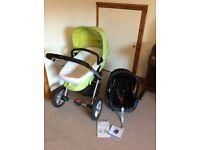 Mothercare My3 Pram/Pushchair plus Maxi Cosi Car Seat travel system