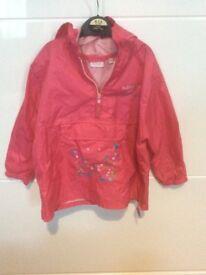 Girls rain jacket 2 to 3 years