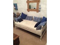 Cream Day Bed - Includes new mattress