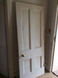 Solid 4 panel wooden door