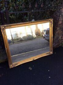 Vintage style gold mirror