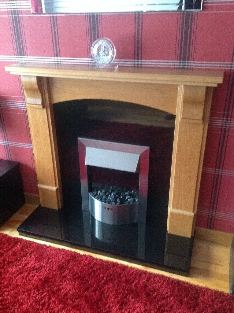 Solid oak fireplace as new condition *reduced*