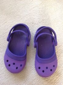 Girls crocs size 9