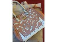 Large handbag pink & cream LYDC London