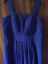 Royal blue long prom or bridesmaid dress, size 18. New