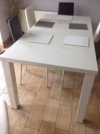 Cream gloss dining table - brand new