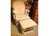 Rocking Nursing chair and foot stool