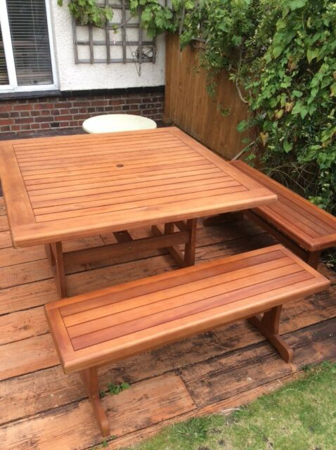 Second Hand Wooden Garden Table And Bench Decor And Garden