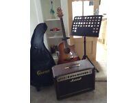 Crafter A.GE 400 SP VTG Guitar/3 stands/gig bag and Amp