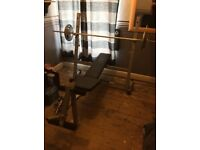 Fitness Weight bench And Weights