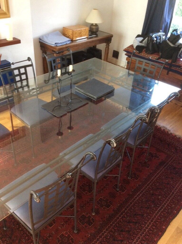 Dining Table With 8 Chairs Gl Metal Frame For 12 People In Dollar Clackmannanshire Gumtree