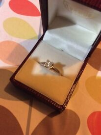 Platinum and a Diamond Engagement Ring