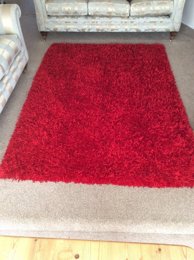Gorgeous Red Sparkle Rug Large