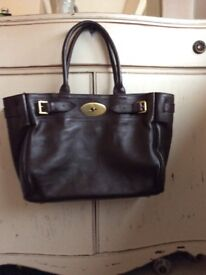 Brown leather bag - tote