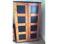 Stompa wardrobe, chest of drawers and bedside table