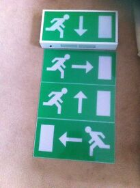 Nite Glo Fire Exit Sign (multi way signs included)