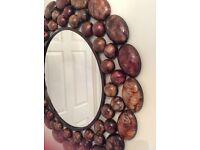 Wall mirror pebble effect