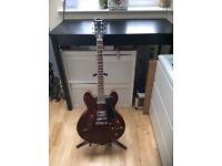 Red Blues/Jazz Vintage Harley Benton electric guitar