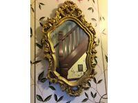 A Veronique Gilt Mirror L - 72 X W -43 cms
